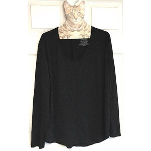 Faded Glory Sparkly Pleated Back Top V-neck XXL 20
